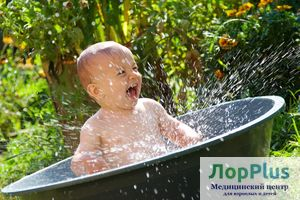 Детское закаливание водой